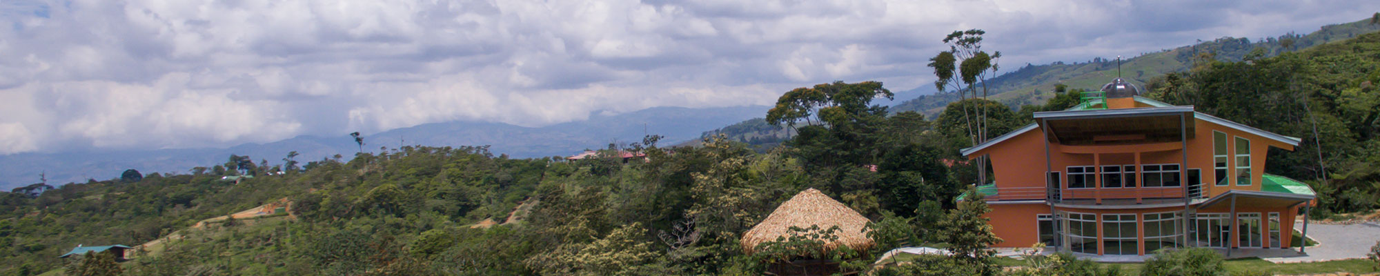 This is an image of the Lillian M Wright Centre at our EcoCampus in Costa Rica,