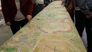 A hand drawn map.
